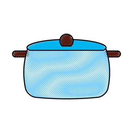 kitchen pot isolated icon vector illustration design Çizim