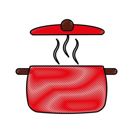 kitchen pot isolated icon vector illustration design Illustration