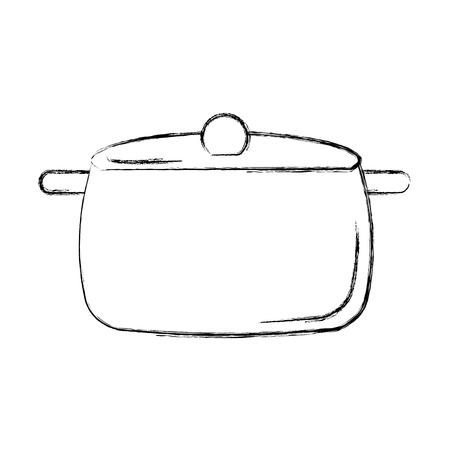 kitchen pot isolated icon vector illustration design Stock Vector - 81379108