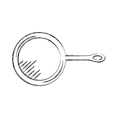 Keuken pan geïsoleerd pictogram vector illustratie ontwerp