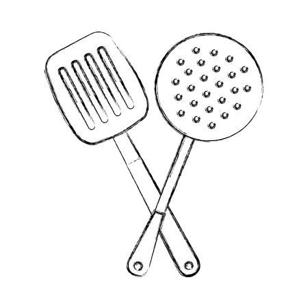 kitchen spatula tool icon vector illustration design