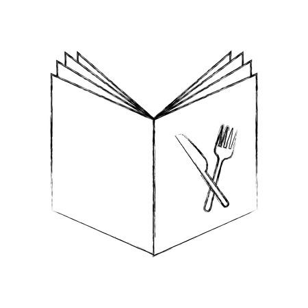 Recept boek geïsoleerd pictogram vector illustratie ontwerp Stockfoto - 81379173