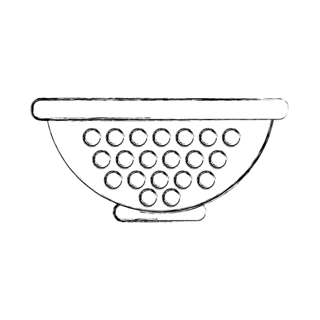 Metal kitchen strainer icon vector illustration design Vetores