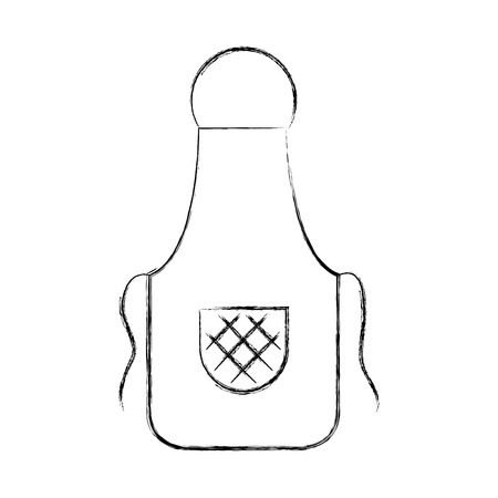 Cook apron isolated icon vector illustration design