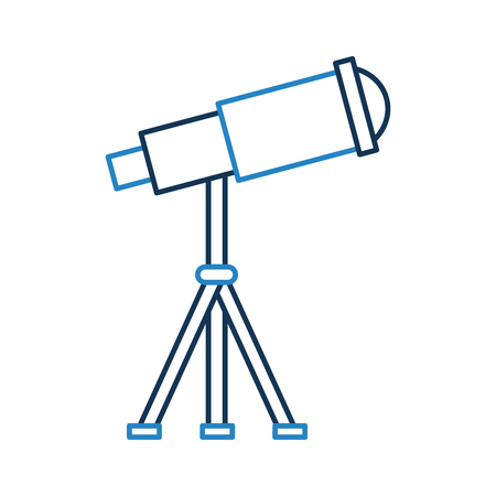 telescope device spacial icon vector illustration design Stok Fotoğraf - 81378065
