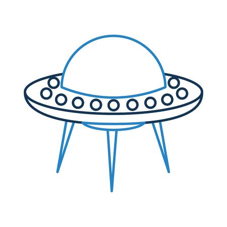 Onbekend vliegende object icoon vector illustratie ontwerp Stockfoto - 81378130