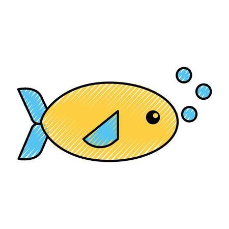 sea fish swiming icon vector illustration design 向量圖像