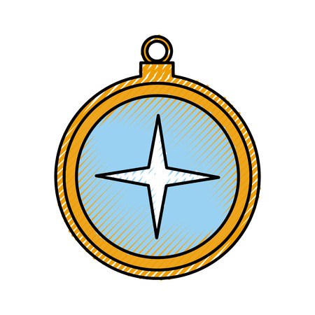 sailing object shape sing vector illustration design
