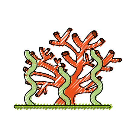 marine coral sealife icon vector illustration design Illustration