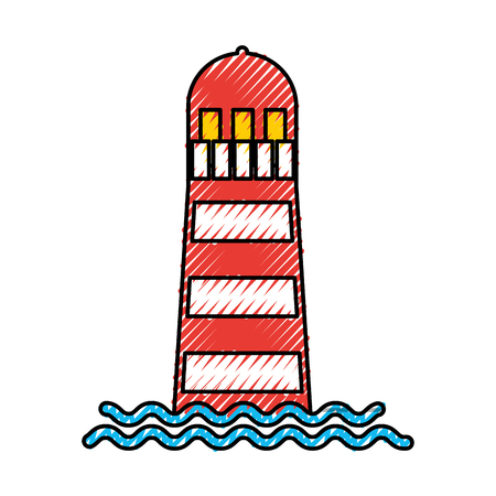 sea lighthouse isolated icon vector illustration design Иллюстрация