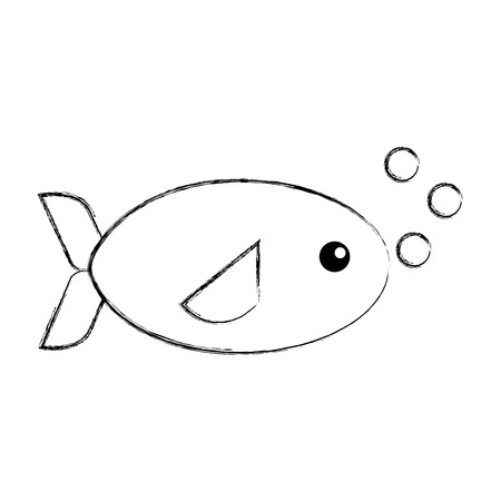 swiming: sea fish swiming icon vector illustration design Illustration
