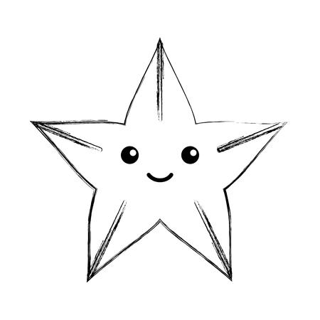 cute starfish isolated icon vector illustration design Stock fotó