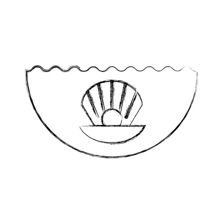 Sea shell isolated icon vector illustration design Banco de Imagens - 81376964