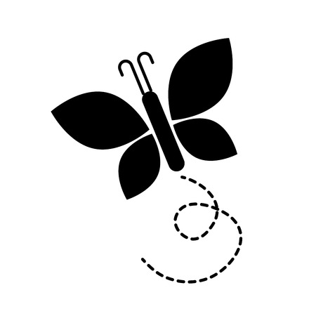 귀여운 나비 격리 아이콘 벡터 일러스트 디자인