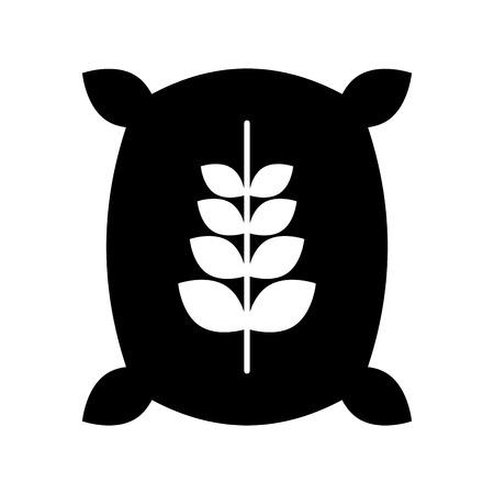 Sack of wheat icon vector illustration design