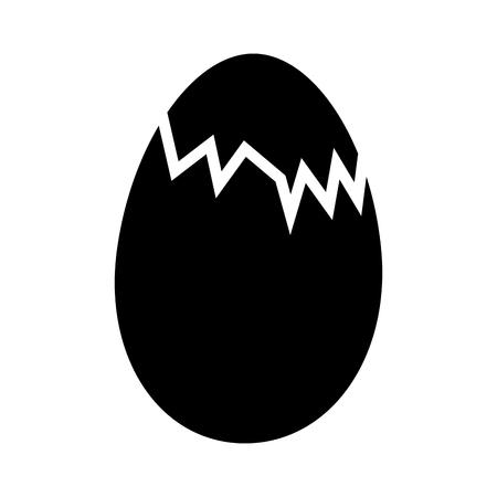 닭 계란 절연 아이콘 벡터 일러스트 디자인