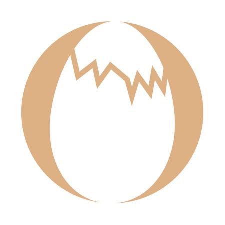 닭고기 달걀 절연 아이콘 벡터 일러스트 디자인 아이콘
