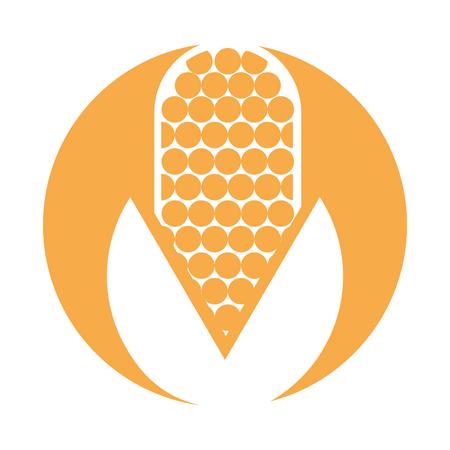 Maisgemüse isoliert Symbol Vektor-Illustration, Design, Standard-Bild - 81377134