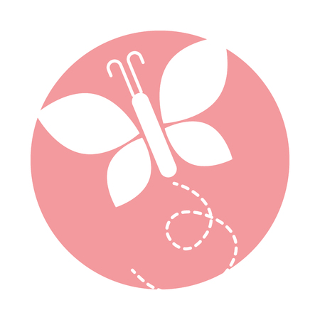cute butterfly isolated icon vector illustration design