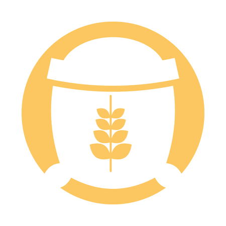 preparations: Sack of wheat icon vector illustration design