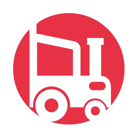 Tracteur agricole icône isolé illustration vectorielle conception Banque d'images - 81378537