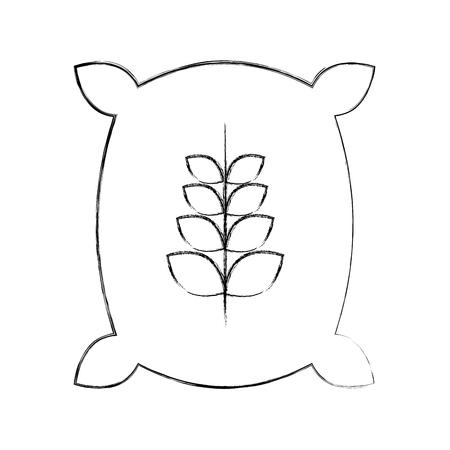 밀 아이콘 벡터 일러스트 디자인의 자루 일러스트