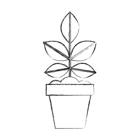 ポット ベクトル イラスト デザインで耕された植物