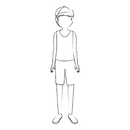 Young man cartoon icon vector illustration graphic design Illustration