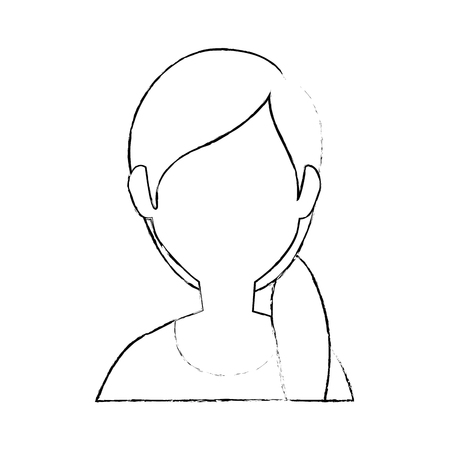 woman faceless head icon vector illustration graphic design Ilustrace