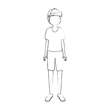 青年漫画のアイコン ベクトル イラスト グラフィック デザイン
