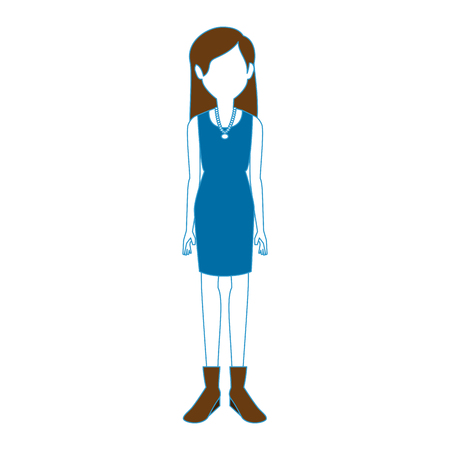 Karikaturikonenvektor-Illustrationsgrafikdesign der jungen Frau Standard-Bild - 81573781