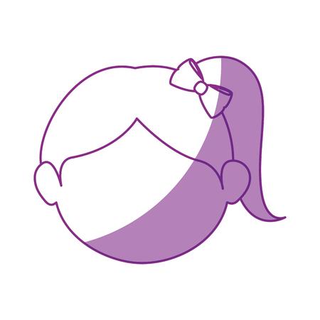 Girl face cartoon icon vector illustration graphic design Illusztráció