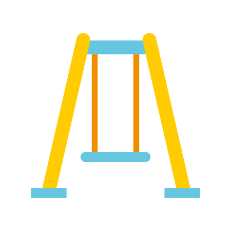 park swing isolated icon vector illustration design Stok Fotoğraf - 81599240