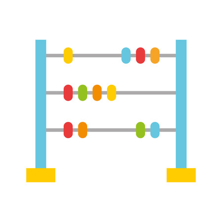 math abacus isolated icon vector illustration design Stock fotó - 81599248