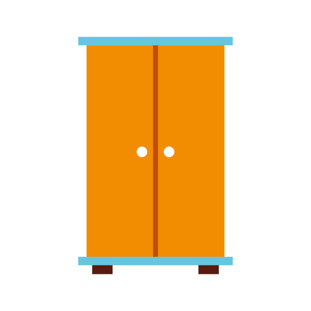wooden closet isolated icon vector illustration design