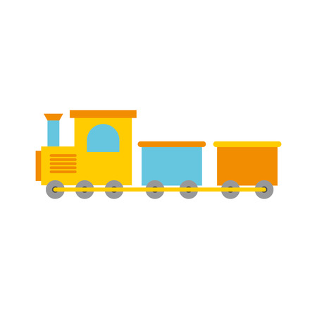 train toy isolated icon vector illustration design