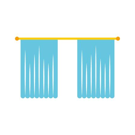 window curtain isolated icon vector illustration design Ilustração