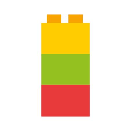Speelgoed blokken structuur icoon vector illustratie ontwerp