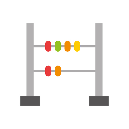 math abacus isolated icon vector illustration design 向量圖像