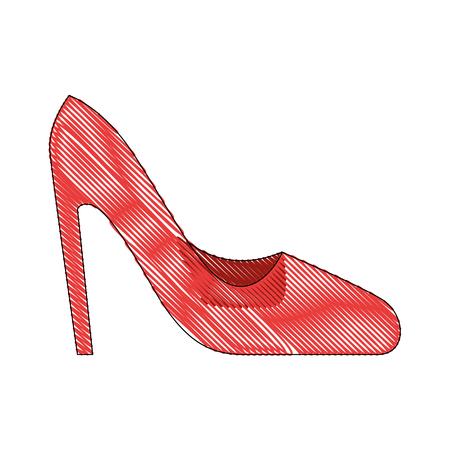 높은 뒤꿈치 신발 아이콘 벡터 일러스트 레이 션 그래픽 디자인.