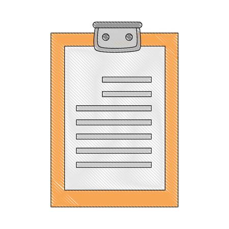 Checklist document sheet icon vector illustratie grafisch ontwerp Stockfoto