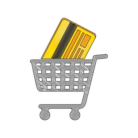 Shopping cart symbol icon