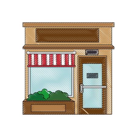 shopping center interior: Shop store cartoon icon vector illustration graphic design