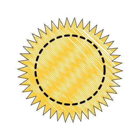 Stamp round label icon vector illustration graphic design Ilustração