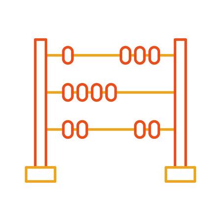 数学そろばん分離アイコン ベクトル イラスト デザイン