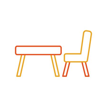 L'école table isolé icône vector illustration design Banque d'images - 81623128