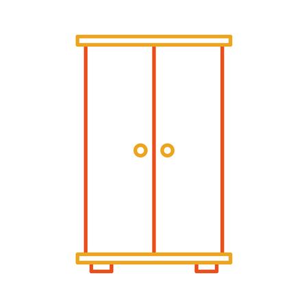 Progettazione dell'illustrazione di vettore dell'icona isolata armadio di legno Archivio Fotografico - 81623118