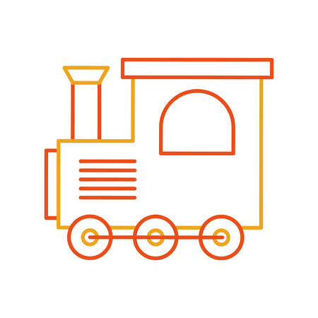 鉄道グッズ分離アイコン ベクトル イラスト デザイン  イラスト・ベクター素材