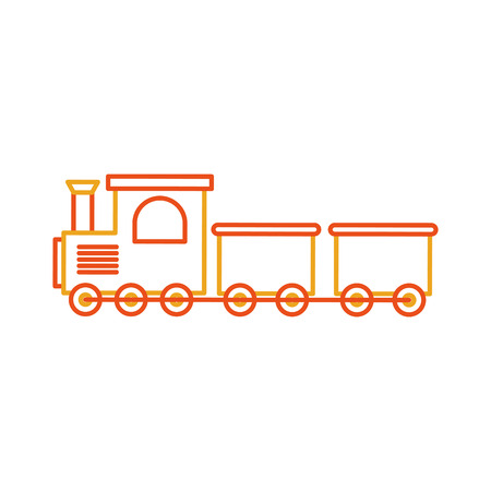 Tren juguete aislado icono vector ilustración diseño Foto de archivo - 81623143