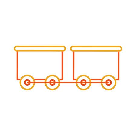 Diseño de ilustración de vector de icono de juguete tren wagon toy Foto de archivo - 81635967